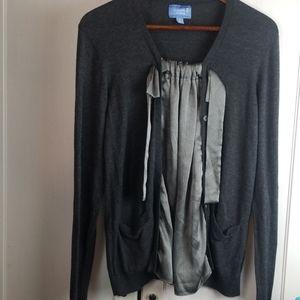 Simply vera vera wang layered cardigan large